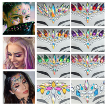 Adhesive Temporary Tattoo Stickers Face Jewels Festival Party Body Gems Rhinestone Glitter Flash Tattoos Stickers Body Make Up