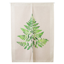 Green Plants Printed Curtains