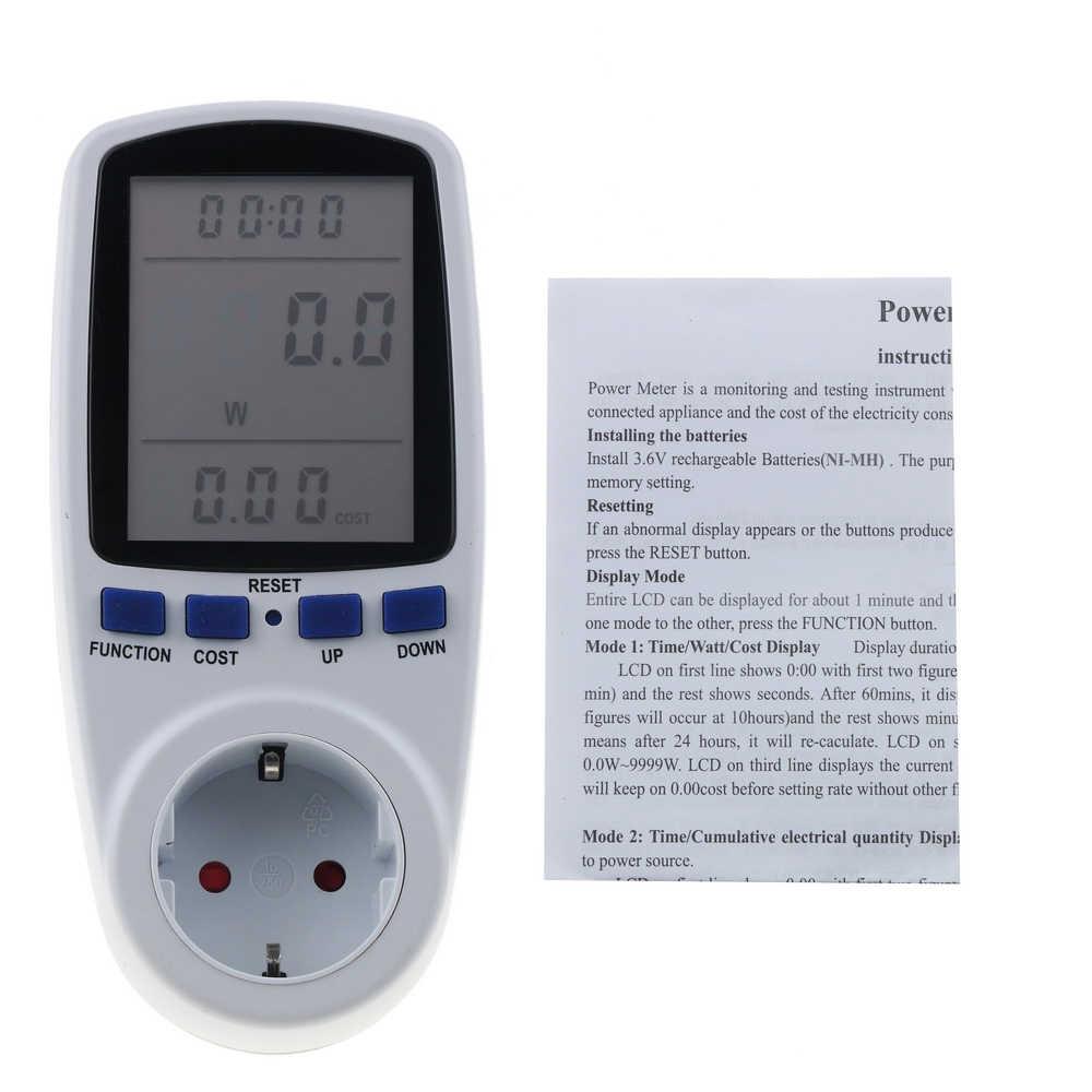 Kebidu eu 디지털 전력계 전력계 에너지 미터 전압 전력 분석기 전자 에너지 측정기 콘센트 소켓 측정