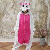 Kigurumi Cartoon Anime Pink Stitch Unicorn Pajamas For Women Ladies Cat Rabbit Winter Adult Pijamas Halloween