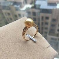 Вечная Свадьба Женский подарок Слово 925 Стерлинговое Серебро, настоящее постоянный натуральный подарок морской жемчуг кольцо 9 10 мм