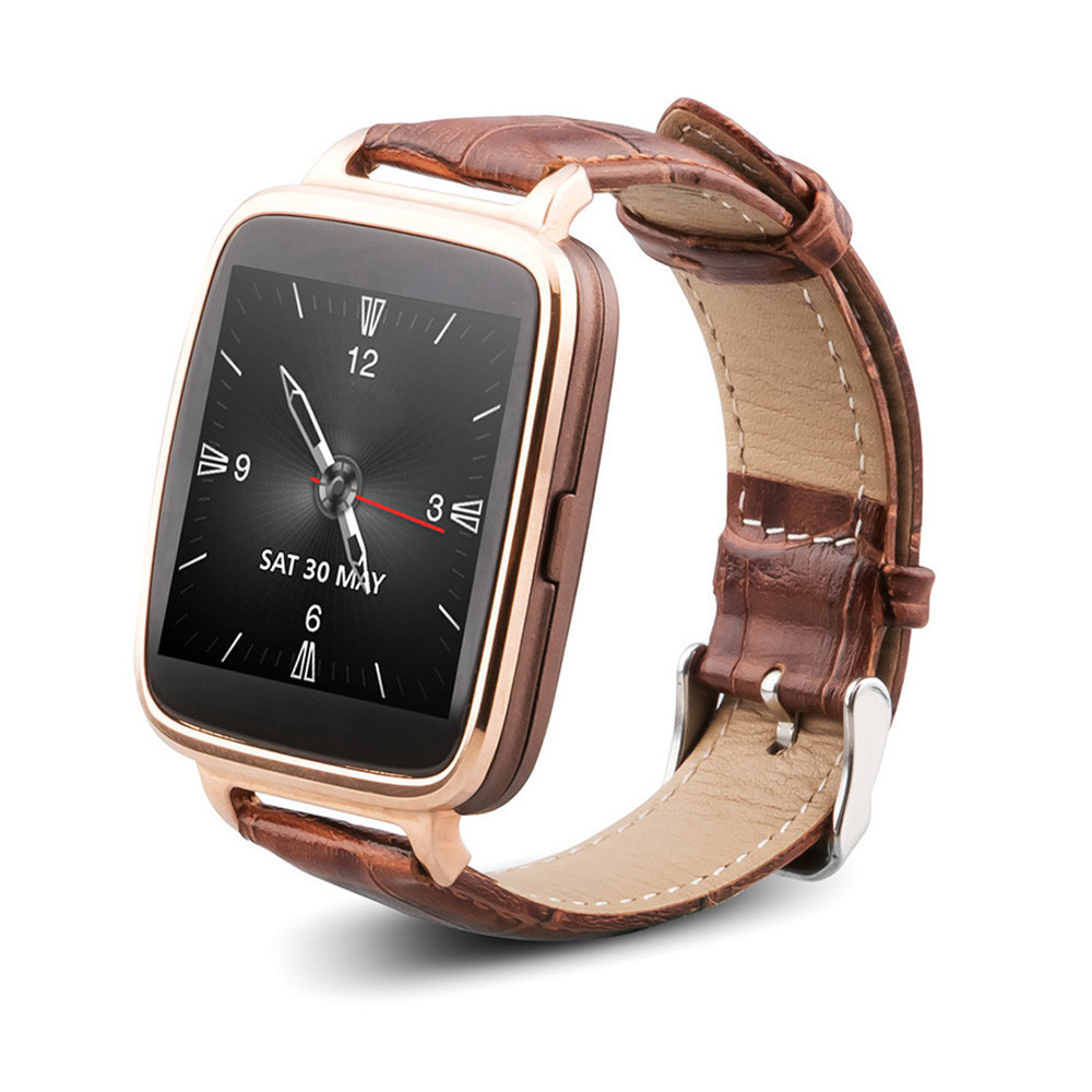 100 Original  Lonfine M28 Bluetooth 4.0 Smart Watch Genuine Leather Starp Sync Call Music Pedometer for IOS Android Phone #ED318 wireless service call bell system popular in restaurant ce passed 433 92mhz full equipment watch pager 1 watch 7 call button