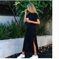 8ac464c03b4a40c Макси платье-футболка женское летнее пляжное сексуальное платье Ким  Кардашьян Украина Kyliejenner льняное Boho длинное