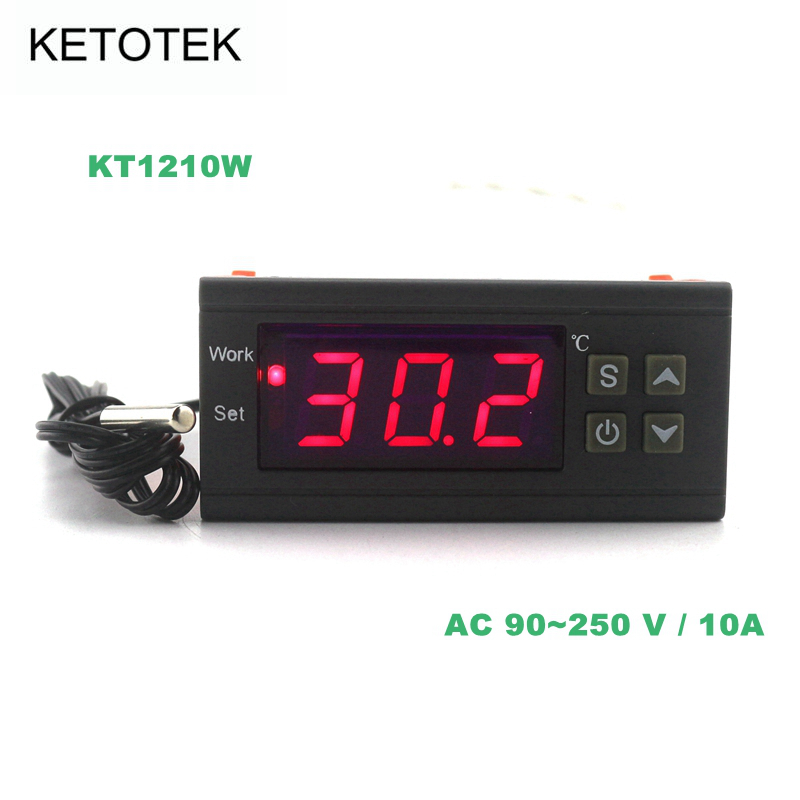 KETOTEK Digital Thermostat Temperature Controller Aquarium Regulator Incubator Heating Cooling Control -50~110 C With Probe tortoises reptiles temperature controller aquarium thermostat with waterproof sensor