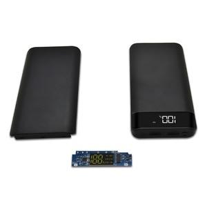 8x18650 diy bateria banco de potência caso caixa escudo da bateria portátil kit diy display lcd digital powerbank 18650 titular caso protetor