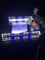 Kristal led akvaryum klip lamba 8 w/10 w, akrilik Kristal Işık, mavi + beyaz.