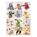 Fashion Soft Cotton Baby Infant Kid Bathrobe Animal Cartoon Hooded Bath Towel