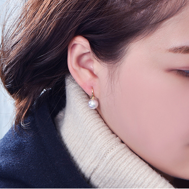 Pearl Earrings With Gold