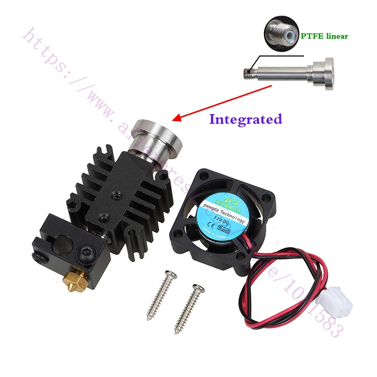 3D Printer Parts  Integrated Heatbreak V6 hotend Wade Extruder Direct drive Hotend Kit 1.75mm Short-distance Feed V6 Hot End Kit