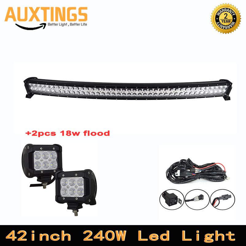 42inch 240W combo beam curved led light bar + 2pcs 418W flood work light Driving Boat Car Truck 4x4 SUV ATV Off Road Fog Lamp42inch 240W combo beam curved led light bar + 2pcs 418W flood work light Driving Boat Car Truck 4x4 SUV ATV Off Road Fog Lamp