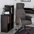 Aingoo Chefe Cadeira de Escritório com braços com almofadas de tecido Altura Do Assento Ajustável de 360 Graus de Rotação Da Roda Cadeira de Chefe Do Escritório