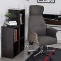 Aingoo Jefe Silla de Oficina con brazos con Asiento de tela pads Altura Ajustable 360 Grados de Rotación de la Rueda Silla de Oficina Jefe