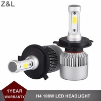 1Pair H4 LED HEADLIGHT CAR 12V 24V REPLACEMENT 6500K WHITE 11400LM LED HEADLAMP COB HI LO