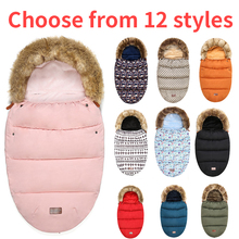 Bebek arabası uyku tulumu kış sıcak Sleepsacks elbise bebek tekerlekli sandalye zarflar yenidoğan bebek kış seyahat tutmak için