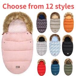 Kinderwagen Slaapzak Winter Warm Sleepsacks Gewaad Voor Baby Rolstoel Enveloppen Voor Pasgeborenen Baby winter reizen te houden