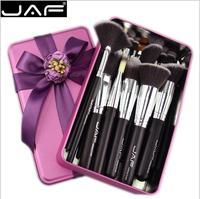 JAF Vegan Marca 24 Pcs Pincéis de Maquiagem Profissional Jogo de Escova de Presente de Metal Muito Macio Cabelo Sintético Adequado Caixa de Embalagem 4208