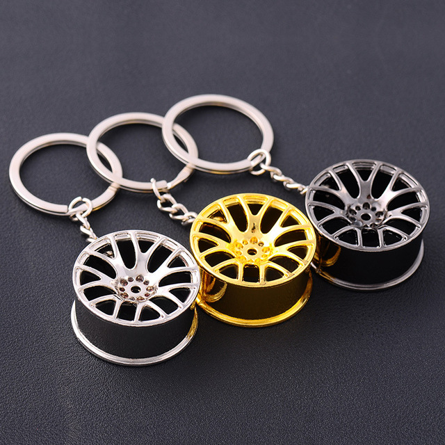 Car Wheel Men's Key Chain