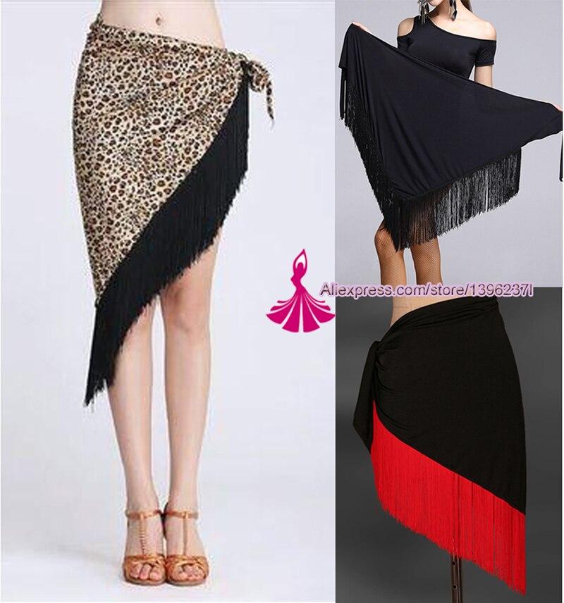 Latin Dance Skirt For Women 7 Color Professional Sumba Tassel Dancing Skirt Adult Cheap Rumba Latin Dance Dress