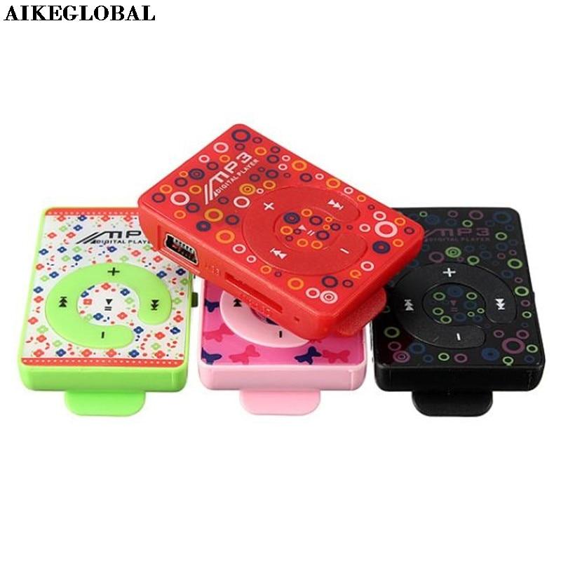 Aikeglobal Mini Usb Clip Digital Mp3 Musik-player Unterstützung 8 Gb Sd Tf Karte Mobile Wiederaufladbare Pc Auto Mp3 Player Micro Sd