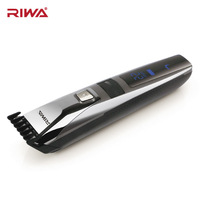 Riwa Rechargeable Electric Haircut Machine For Man LCD Display Waterproof Hair Clipper Cordless Electric Hair Trimmer