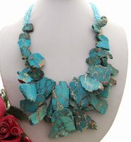 vogue popular blue &Crystal Necklace