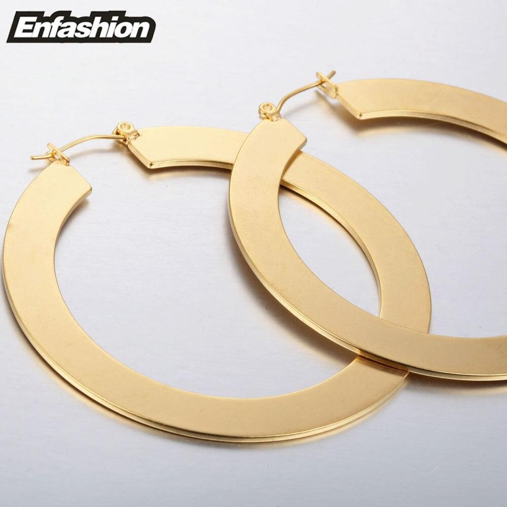 Enfashion Vintage veliki naušnica naušnice mat zlatne boje - Modni nakit - Foto 5