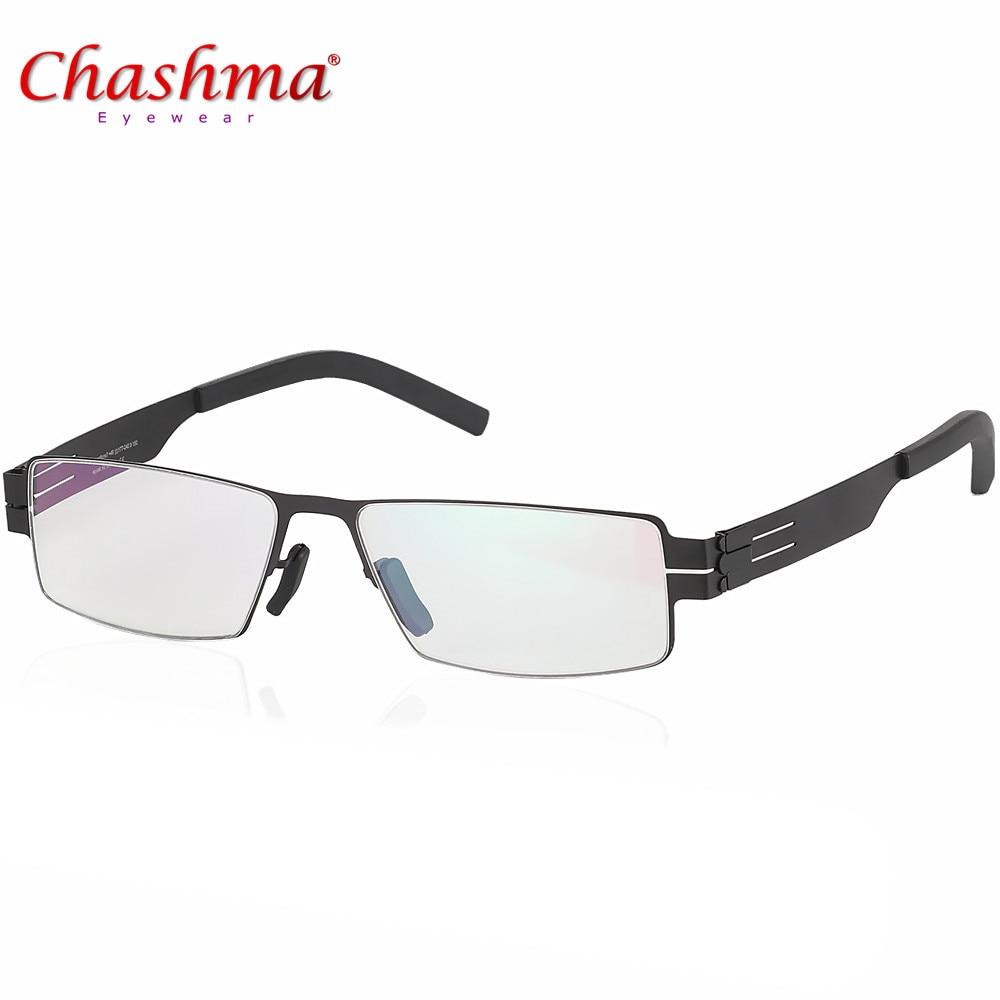 Monturas de gafas de alta calidad Marcos de anteojos de marca IC Ultraligeras Ultradelgadas Gafas de grau Hombres / mujeres montura de gafas de miopía