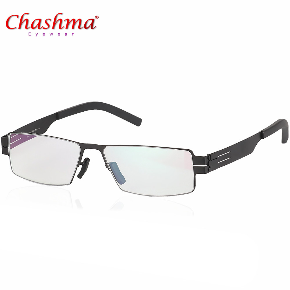 High quality Glasses Frames IC Brand Eyeglasses Frames Ultra Light Ultra thin Oculos de grau Men/women myopia spectacle frame image