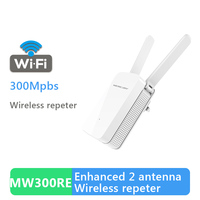 MECURY Original Wireless Wifi Repeater 300Mbps For Wireless Router With 2 External Antennas Router Repeater MW300RE