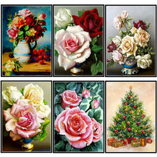 Diamond Embroidered Floral Pattern Full Round 5D DIY  Painting Mosaic Home Decoration Craft Christmas Gift