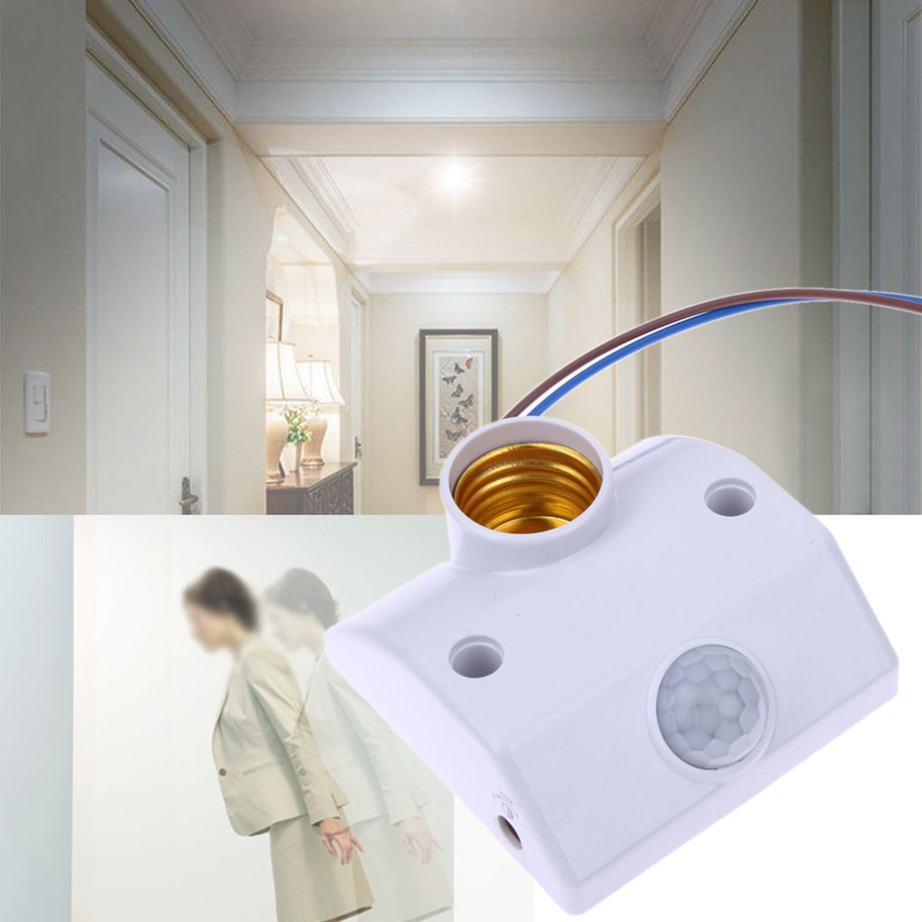 Lights & Lighting Switches E27 Ac220 50/60hz Infrared Motion Sensor Automatic Light Holder Switch Intelligent Light Motion Sensing Switch 2019 New Fashion Style Online