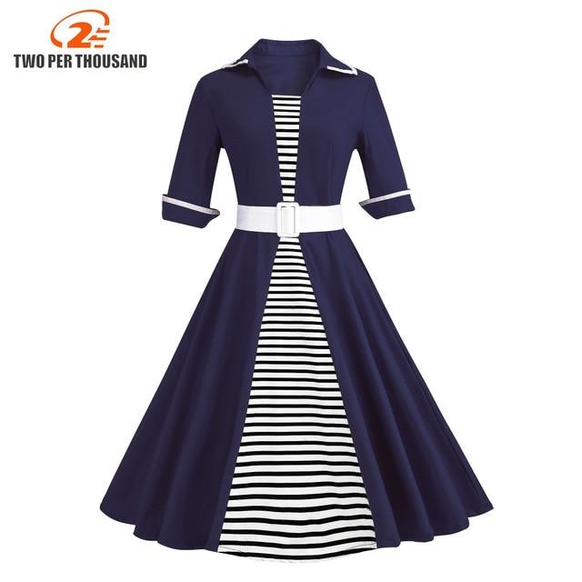 Autumn 4xl Plus Size 3xl Stripe Print Half Sleeves Lapel Vintage