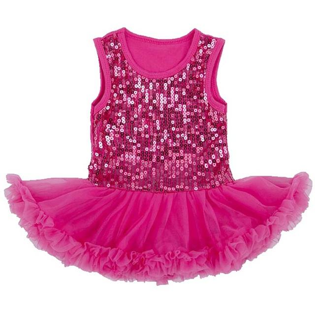 Elegante Rosa Lentejuelas Encaje Tutu Vestido Infantil Bebe Bebé Jurkjes Verano 2016 Bebé Vestidos de Niña de Niño Ropa