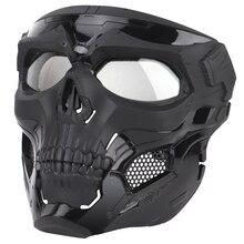 Тактическая Маска с черепом для пейнтбола на все лицо защитный Быстрый Шлем для военных страйкбола маски CS чехол для лица
