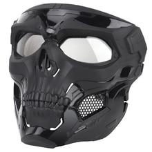 גולגולת טקטי מסכת פיינטבול מלא פנים מגן Fit קסדת Fast הצבאי Airsoft CS מסכות פנים כיסוי