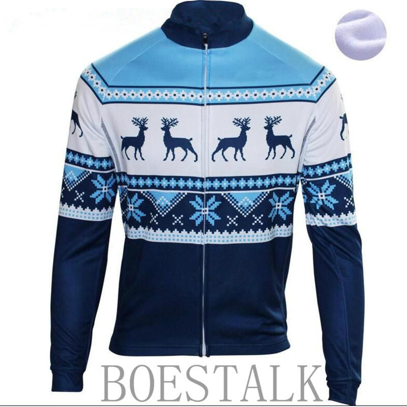 2018 Christmas elements winter new wool long-sleeved riding Luopa Cicilmo bicycle riding mountain top cycling sportswear
