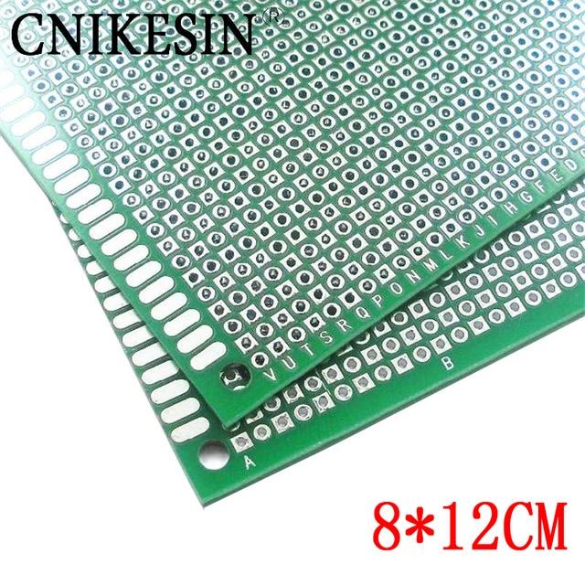 CNIKESN 8x12 cm Double Panneau Latéral BRICOLAGE Prototype Papier PCB épaisseur 1.6mm plaque universelle brassboard En fiber de Verre boîte en fer blanc de jet