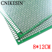 CNIKESN 8x12cm Double Side Board DIY Prototype Paper PCB  thickness 1.6mm universal plate brassboard Glass fiber spray tin