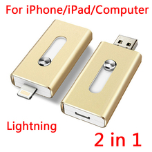 For Iphone, Plug And Play Lightning OTG USB Flash Drive Memory Card Usb 32GB 64GB 128GB 512GB Stick Flash Disk On Key Pendrives