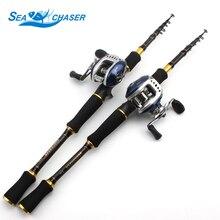 Carbon Rod M energy lure 7g -28g 1.8M 2.1M 2.4M 2.7M Moveable Telescopic Fishing Rod Casting Rod Casting Reels Set