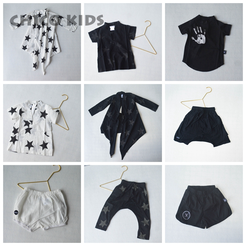 Blouse Shorts T-Shirts Star Girls Boys Kids Children Summer New Holiday-Series Clearance-Price