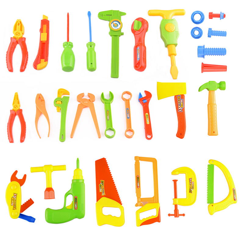 Liberal 32pcs/set Kids Repair Carpentry Tools Toy Kit Baby Classic Toolbox Boy Pretend Play Plastic Tool Toys For Boys Children Gifts High Safety Toys & Hobbies