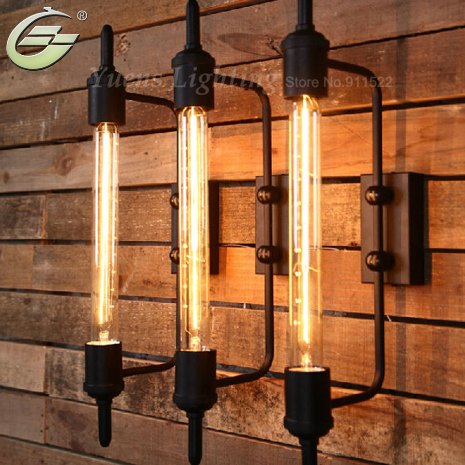цена на American Retro Industrial Light Country Innovative Restaurants Bbalcony Corridor Stage Art Wall Lamp XDB-410 Free Shipping