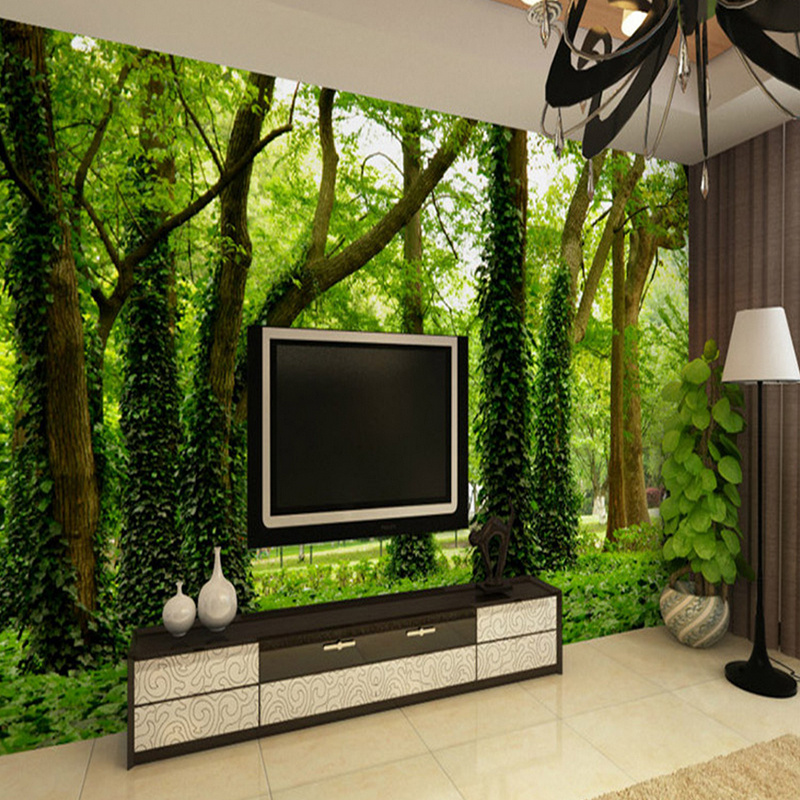 Custom Wall Mural 3D Wallpaper HD Green Forest Natural Living Room Sofa Restaurant Hotel Background In Wallpapers From Home