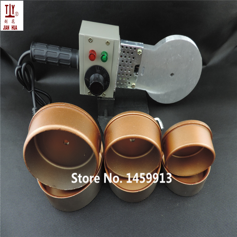Free Shipping 75-110mmPlastic Welder Temperature Control Welding Machine Ppr Pipe Tube 1000W 220V Machine And Die Head Paper Box free shipping plumber tool with 42mm cutter 220v 800wplastic water pipe welder heating ppr welding machine for plastic pipes