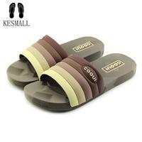 KESMALL Brand Silk Bow Slippers Slides Women Summer Beach Flip Flops Shoes Woman No Fur Slippers