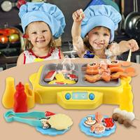Electric Simulation Rotating Hot Pot Kids Kitchen Play House Toy With Ringtone Grill With Fog Function Toys For Children Gift