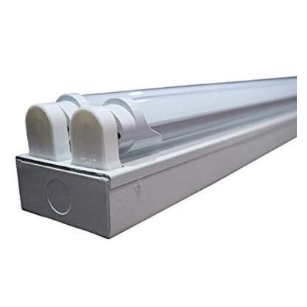 4 pi. Plafonnier Commercial 2 lumières + (2) Tubes T8 LED 24 W G13 Base 1/2/4/10