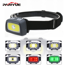 PANYUE 3W XPE & COB Children Mini LED Headlamp 7 Lighting Modes Headlight Head Flashlight Torch for Kids used 3*AAA Battery