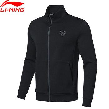 Li-ning Men Wade bluza cała na zamek regularny krój 66 bawełna 34 podszewka z poliestru Li Ning sport topy kurtki AWDP131 MWW1566 tanie i dobre opinie LINING Pasuje prawda na wymiar weź swój normalny rozmiar Flexible